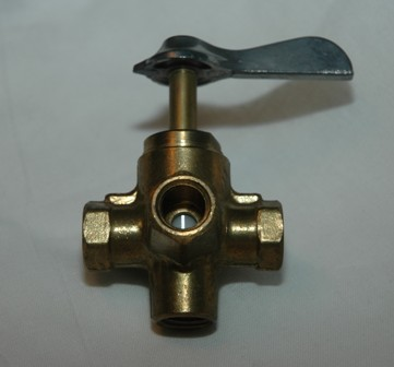 4-Way Valve, 30PSI, Brass