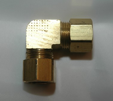 Tube Union 90 Elbows, Brass