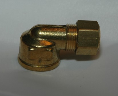 Female Pipe Connector 90 Elbows, Brass