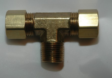 Male Pipe Branch Tees, Brass