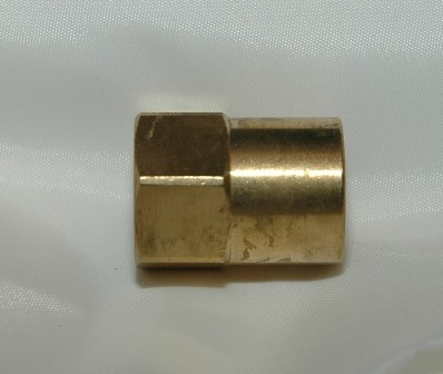 Female Inverted Flare Female NPT Connector, Brass