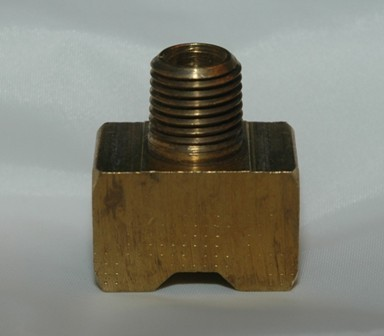 Female Inverted Flare Male NPT Branch Connector Tee, Brass