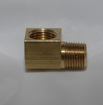 Female Inverted Flare Male NPT Connector, Elbow 90, Brass