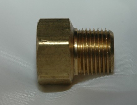 Female Inverted Flare Male NPT Connector, Brass