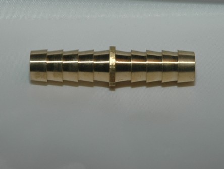 Barbed Hose Mender, Brass