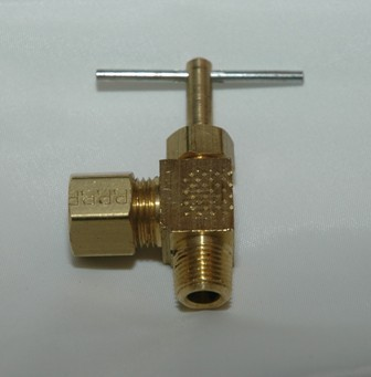 Angle Needle Valve with Compression x Male Pipe