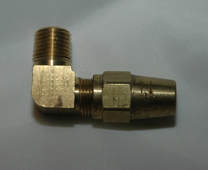 Brass 90 Male Connector (DOT)