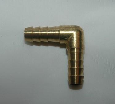 Barbed Hose Mender 90 Elbow - Brass