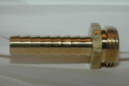 Male Garden Hose Long Shank - Brass