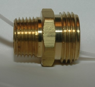 Male Garden Hose to Male Pipe - Solid