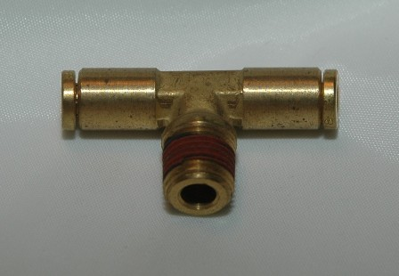Brass push to connect fittings