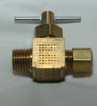 Straightway Needle Valve with Compression x Male Pipe