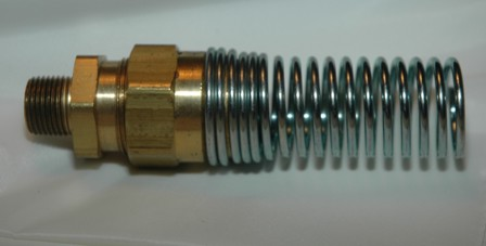 Brass Hose Connector Assembly w Spring Guard
