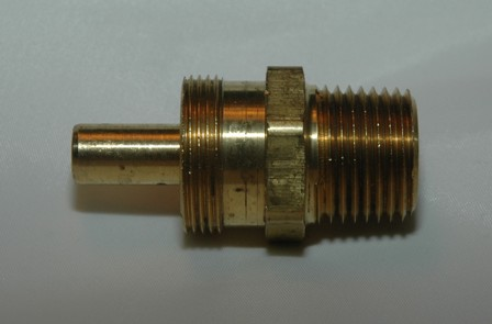 Brass Hose Connector w/ Ext. Pipe Thread