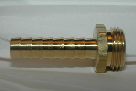 Male Garden Hose Long Shank - Brass