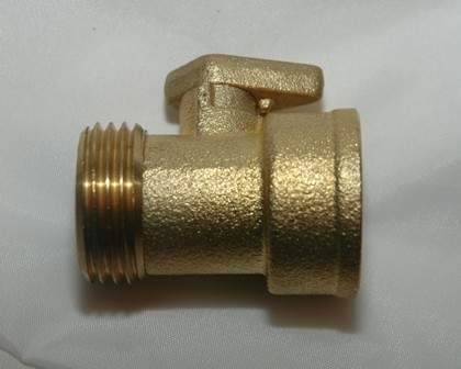Male by Female Garden Hose Adapter with Shut-off