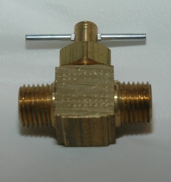 Straightway Needle Valve with Male Pipe x Male Pipe