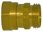 Female Pipe to Male Garden Hose - Live Swivel