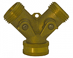Hose Y with Shut-offs (Brass)