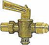 Ground Plug Shutoff Cock with Male Flare x Male Pipe