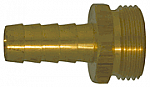 Male Garden Hose Shank - Straight Thread Pipe - Brass