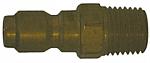 Brass Straight Thru Plug