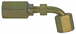 Female JIC/SAE swivel 90