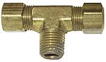 Copper Tube Compression Male Pipe Branch Tee